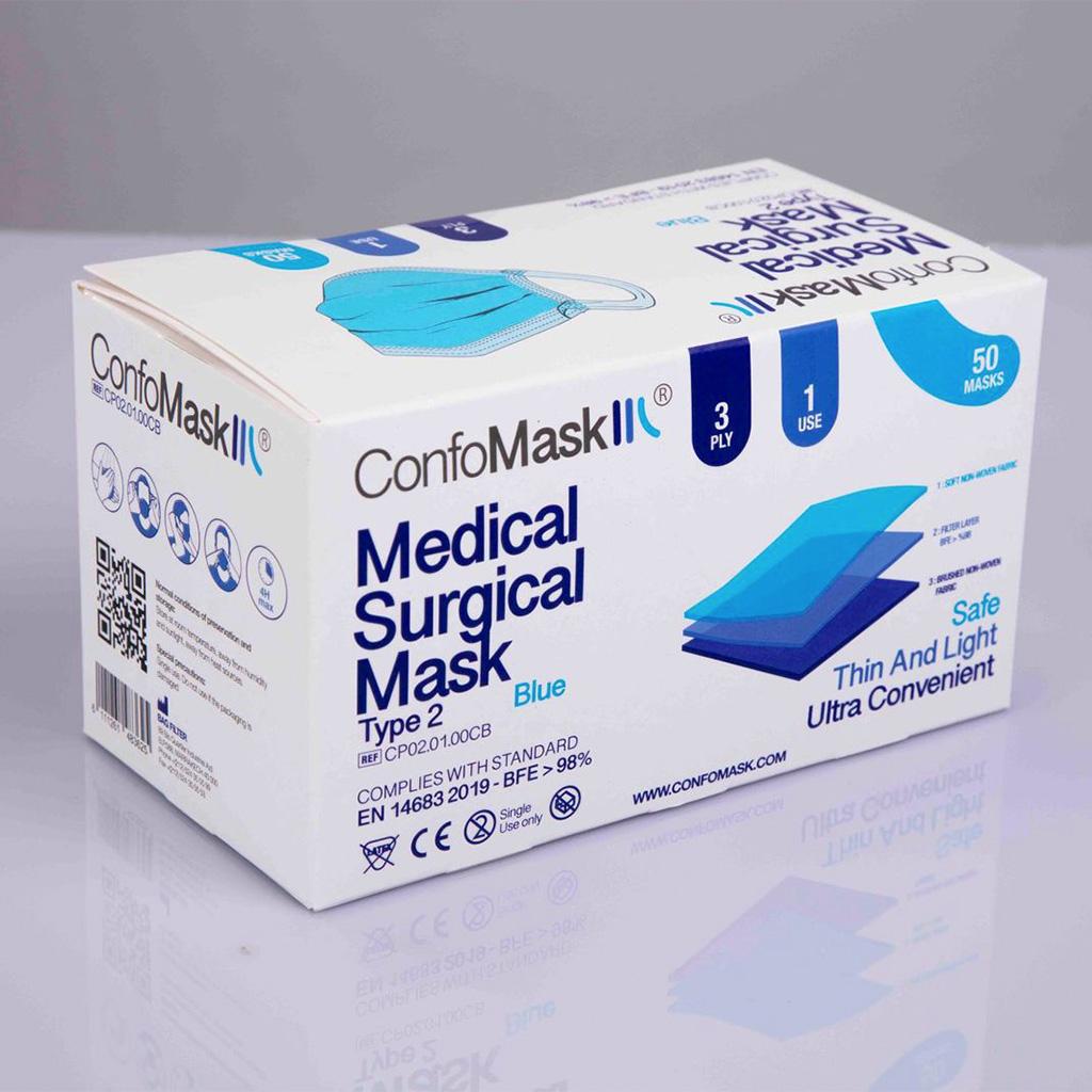 Boite 50 masques Bleu