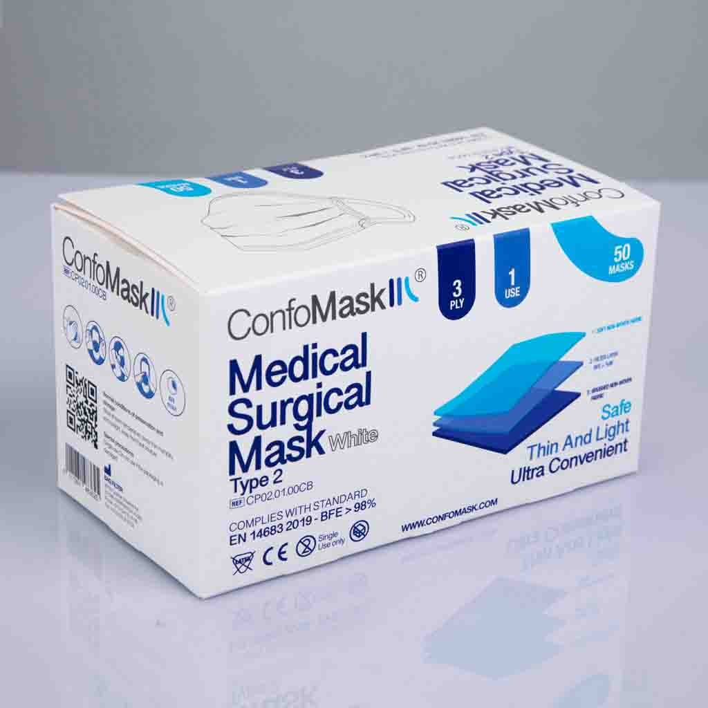 Boite 50 masques Blanc
